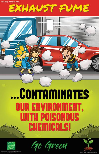 Exhaust Fume Environmental Poster