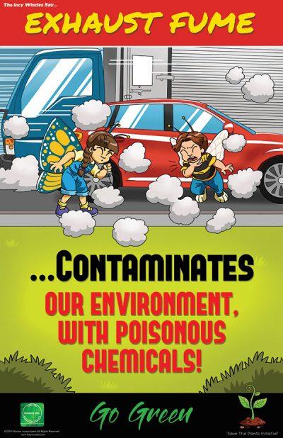 Exhaust Fume Environmental Poster