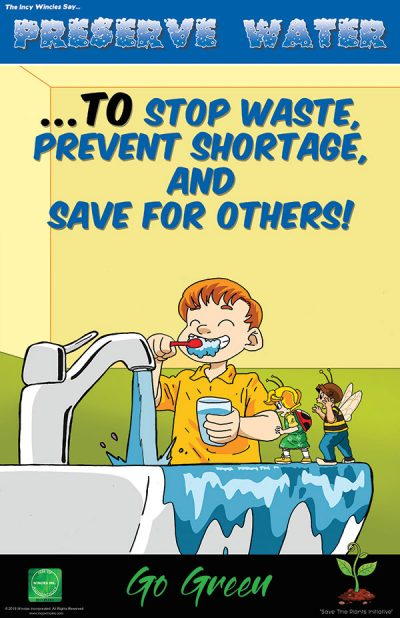 Preserve Water Environmental Poster