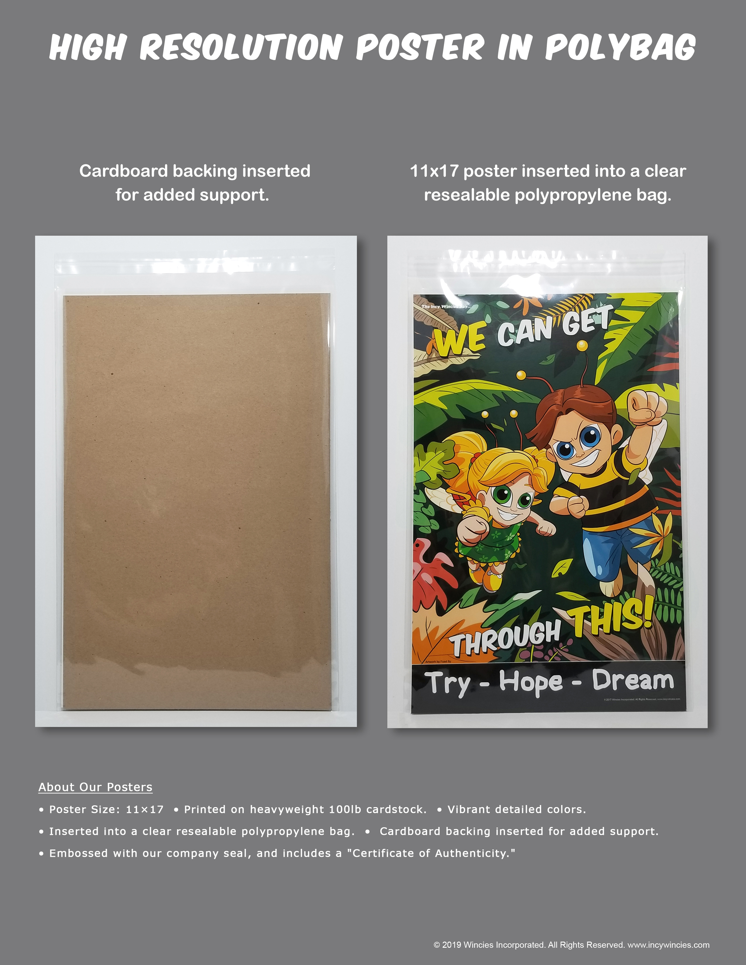 Poly-bagged Posters