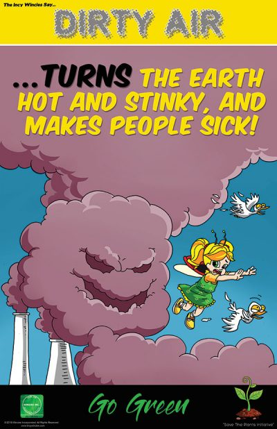 Kids Dirty Air Environmental Poster