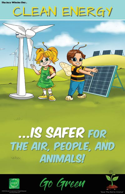 Kids Environmental Posters Clean Energy