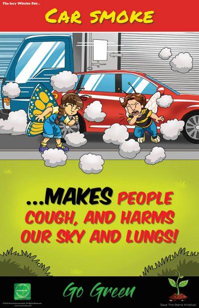 Kids Environmental Posters Car Smoke