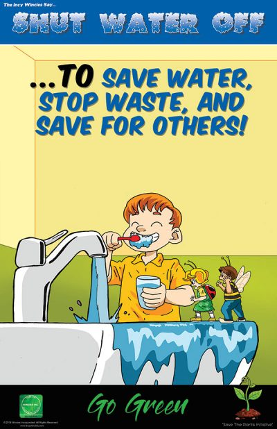 Kids Environmental Poster Shut Water Off