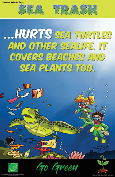 Kids Environmental Poster Sea Trash