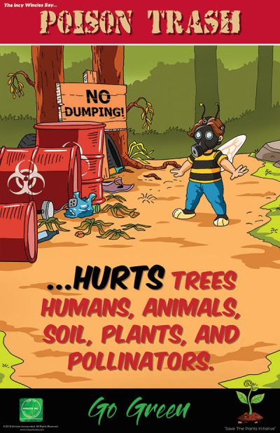 Kids Environmental Posters Poison Trash