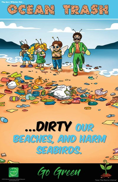 Kids Environmental Poster Ocean Trash