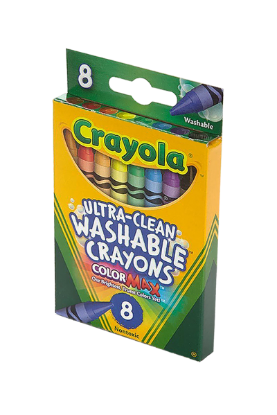 Crayola Washable Crayons Ultra-Clean 8 Count