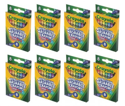 Crayola Ultra-Clean 8 Count Crayons - 8 Pack