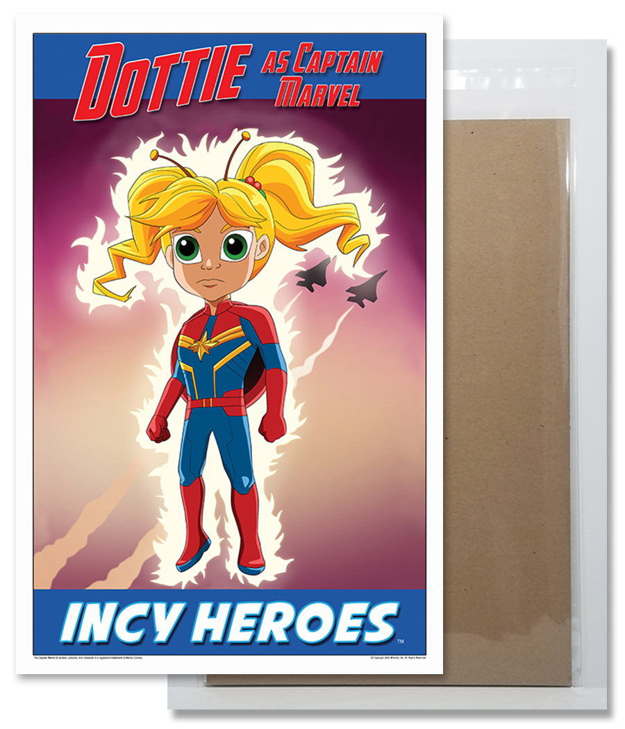 Dottie The Lady Bug as Captain Marvel