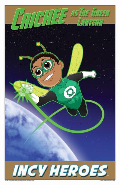 Superhero Crickee As Green Lantern