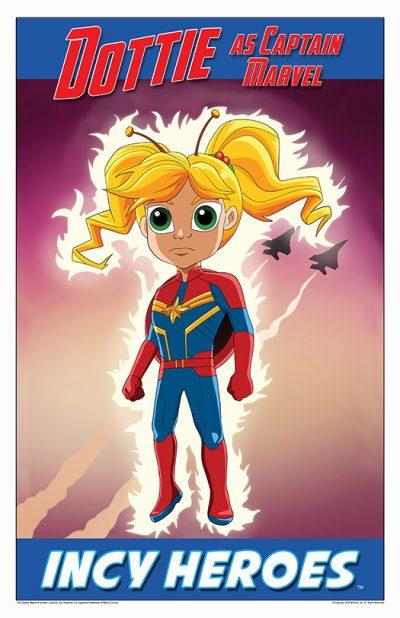 Incy Hero Dottie As Captain Marvel